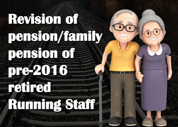 7th pay commission latest news for railway pensioners pre-2016 retired Running Staff