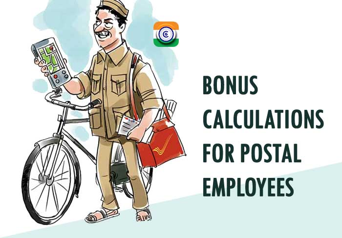 Bonus calculations for Postal employees