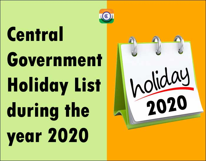 Central-Government-Holiday-List-during-the-year-2020