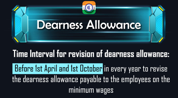 Central Government Dearness Allowance revision, Time Interval revision of dearness allowance, DA Revision, Minimum Wages DA, Central Government Employees DA,