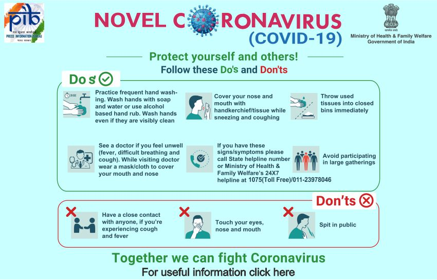 Preventive measures to be taken to contain the spread of Novel Coronavirus (COVID-19) - DoPT Order
