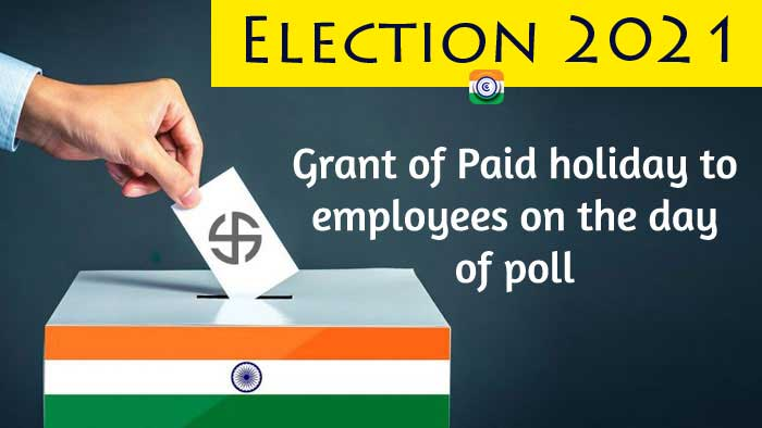 Employees are entitled to a paid holiday on election day, according to a Department of Public Instruction order.