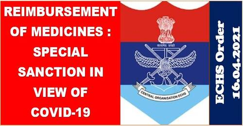 In light of Covid-19, reimbursement of medicines is subject to a special sanction until July31,2021: ECHS.