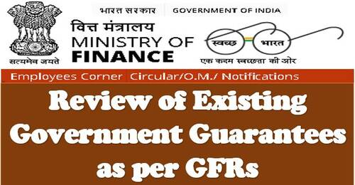 FinMin OM dated23.04.2021: Analysis of Existing Government Guarantees based on GFRs